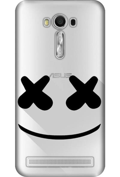 Cupcase Asus Zenfone 2 Laser (ZE550KL) Kılıf Desenli Silikon Kapak + Nano Glass Cam - X Gülücük Smile