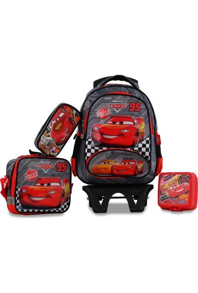 Hakan Çanta Cars Tekerlekli 4'lü Okul Çantası Seti 95369