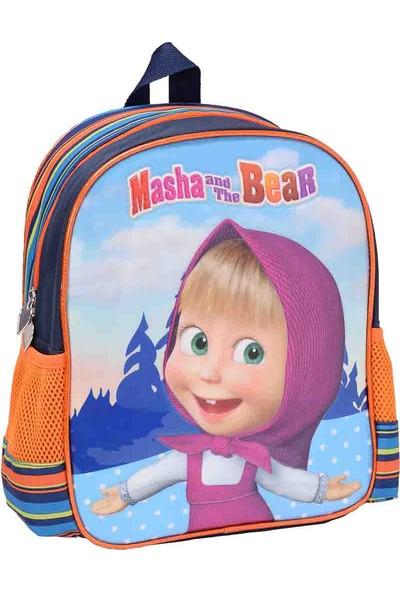 Masha And The Bear Anaokulu Ç Mavi Unisex Çocuk Anaokulu Çantası