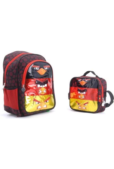 Hakan Çanta Angry Birds Lisanlı Okul Çantası Beslenme Seti