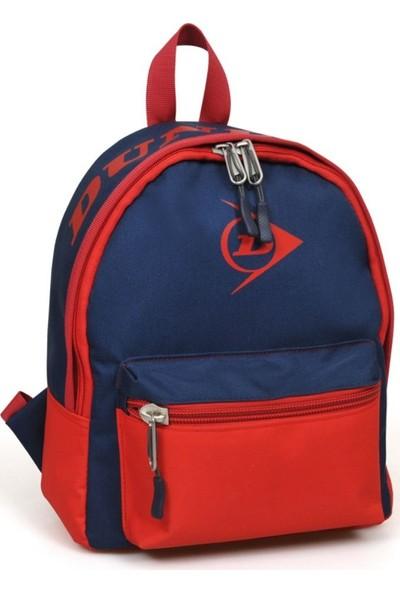 Yaygan Dunlop Lacivert-Kırmızı İki Bölmeli Mini Sırt Çanta