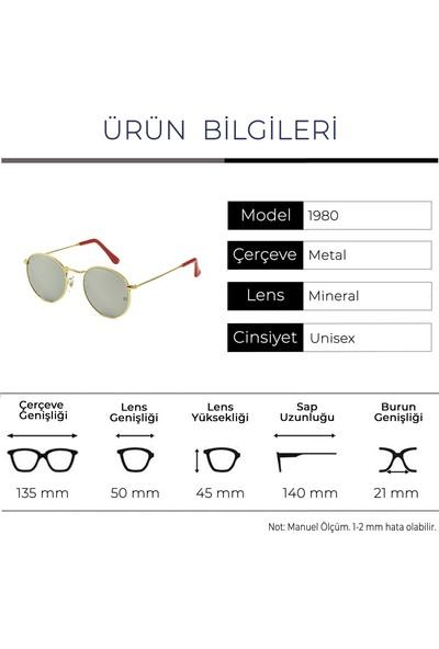 Zolo Eyewear 1980 C03 Silver Mirror Round Unisex Güneş Gözlüğü