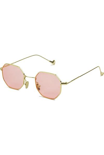 Zolo Eyewear Pink Hexagonal Altıgen 2017 Unisex Güneş Gözlüğü