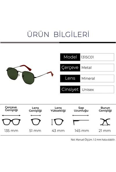 Zolo Eyewear 1315 C01 Hexagon Unisex Güneş Gözlüğü