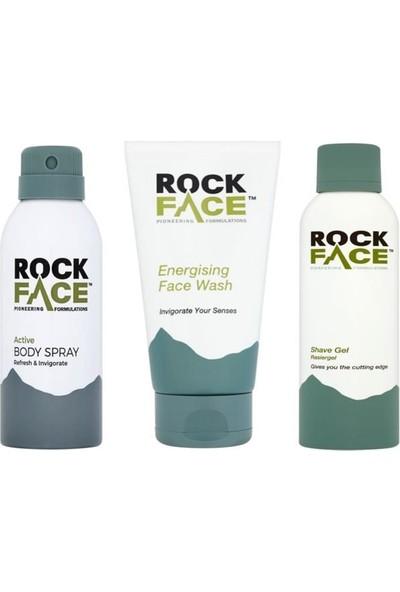 Rock Face Erkek Banyo Bakım Seti ( Deodorant - Yüz Yıkama Jeli - Tıraş Jeli ) BBS01