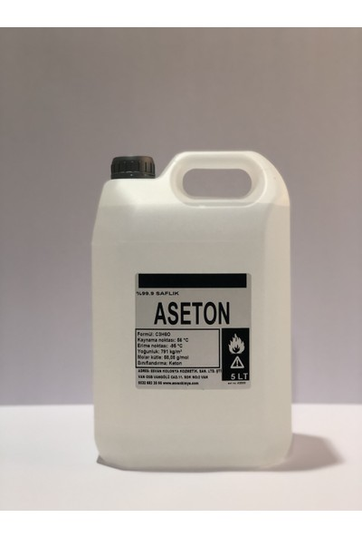 Esv Aseton %99.9 Saflık 5lt
