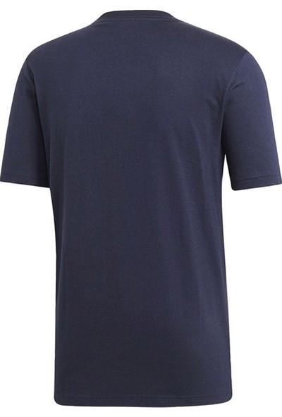 Adidas Lacivert Erkek Günlük Tişört Du0369 E Pln Tee