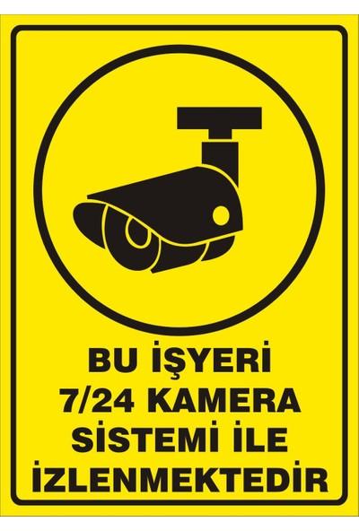 Rüzgar Levha Güvenlik Levhaları Bu İşyeri 7/24 Kamera Sistemi İle İzlenmektedir Uyarı Levhası 35 x 50 cm