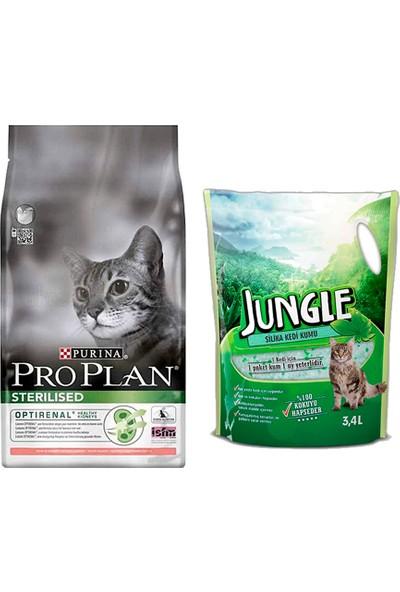 Pro Plan Cat Kısırlaştırılmış Sterilised Salmon & Tuna 1,5 kg Kedi Maması + Jungle Silica Kristal Kedi Kumu 3,4 l