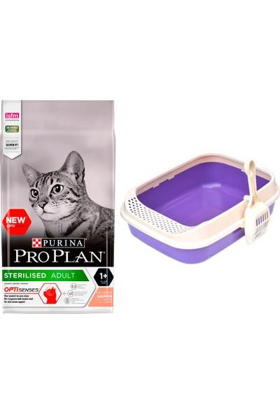 Pro Plan Cat Kısırlaştırılmış Sterilised Salmon & Tuna 1,5 kg Kedi Maması + Lüks Krax Kedi Tuvaleti
