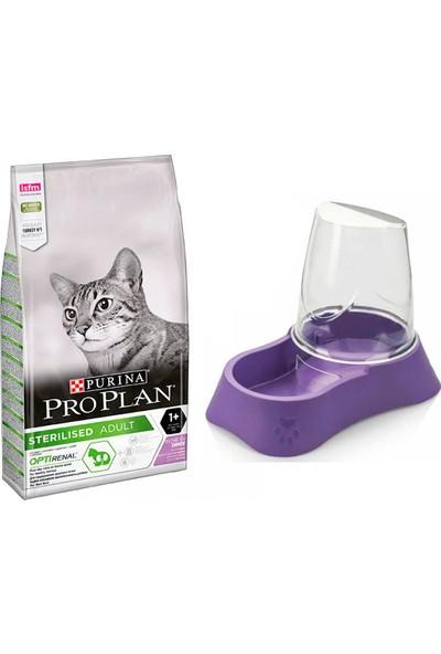 Pro Plan Sterilised Kıısırlaştırılmış Kediler İçin Tavuklu ve Hindili Kedi Mamasi 1,5 kg + Evohe Mama Kabı