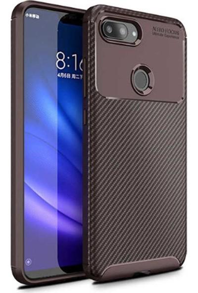 Zore Xiaomi Mi 8 Lite Negro Silikon Kılıf Kahverengi