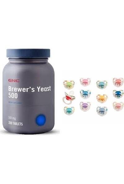 Gnc Brewer's Yeast 500 mg 250 Tablet + Bebedor Emzik Hediyeli
