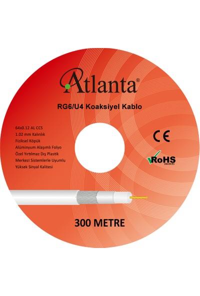 Atlanta Rg6/u4 64 Tel Ccs Anten Kablosu (300 Metre) 4K Full Hd