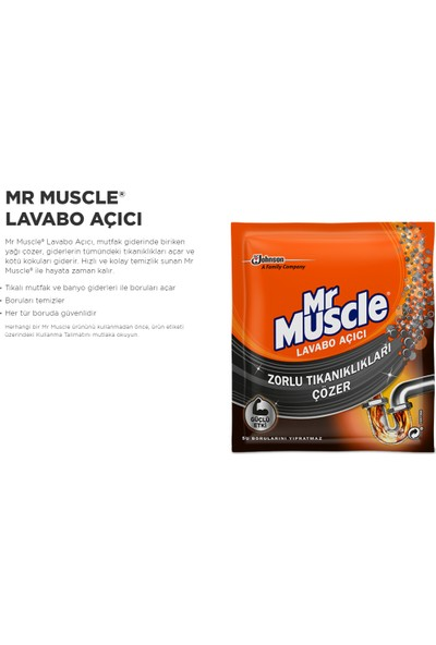 Mr Muscle Granül Lavabo Açıcı 4 Al 3 Öde | 2'li Paket Promosyon