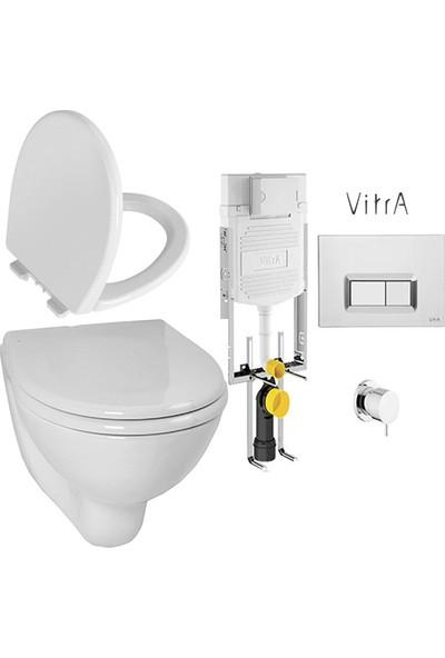 VitrA Gömme Rezervuar Seti VitrA Arkitekt Asma Klozet ve VitrA Unıversal 1 Nuvoplast Soft Klozet Kapağı 700-1868 5959L003 98-003-009