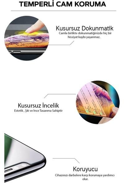 LionTech Samsung Galaxy M10 Kılıf Zırh Koruma Yüzüklü Standlı Armor Silikon Kapak + Ekran Koruma Siyah