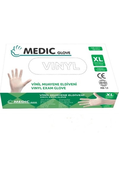 Medic Glove Vi̇ni̇l (Vinyl) Pudrasız Eldiven (X-Large)