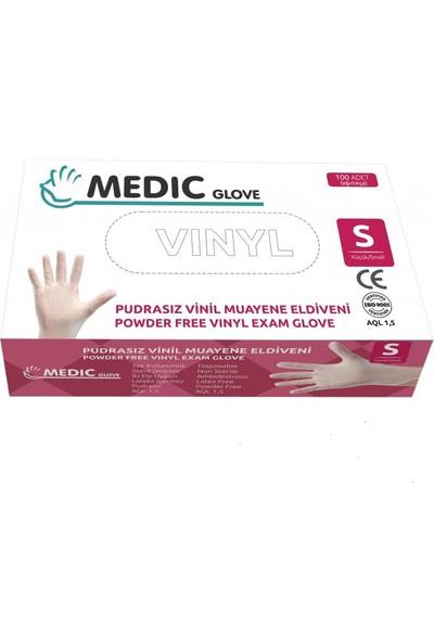 Medic Glove Vi̇ni̇l (Vinyl) Pudrasız Eldi̇ven (Small) x 20 Paket - 1 Koli