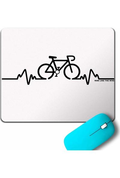 Kendim Seçtim Bike Pulse Cycling Bicycle Riding Bisiklet Mouse Pad