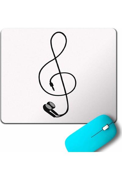 Kendim Seçtim I Love Music Sol Anahtari Kulaklik Walkman Mouse Pad