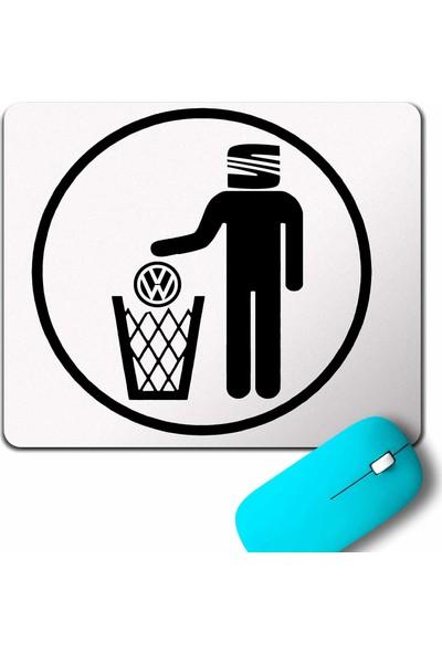 Kendim Seçtim My Favori Car Seat Leon Volkswageni Çöpe Atıyor Mouse Pad