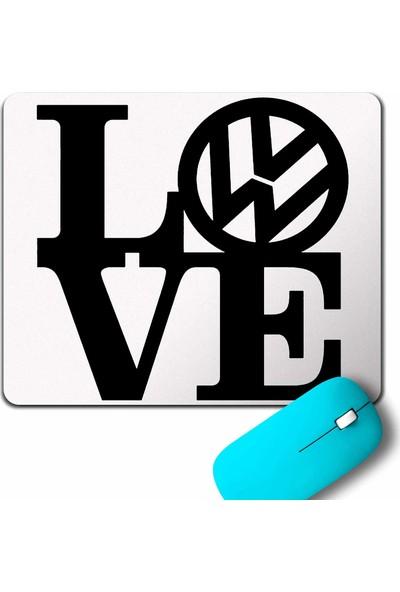 Kendim Seçtim My Love Volkswagen Vw Logo Golf Jetta Passat Mouse Pad