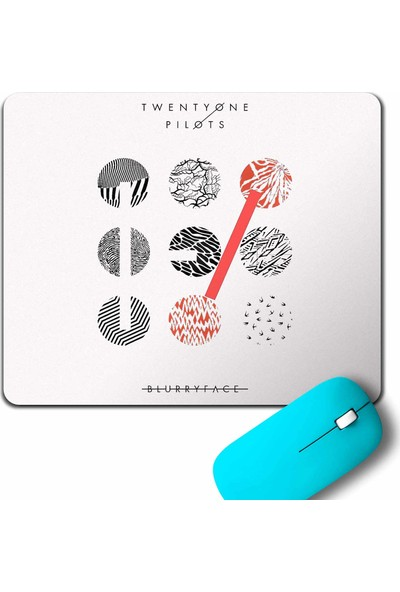 Kendim Seçtim Twenty One Pilots Logo Stressed Mouse Pad