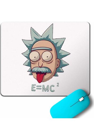 Kendim Seçtim Albert Einstein Rick And Morty Beyaz E=Mc2 işik Hizi Mouse Pad