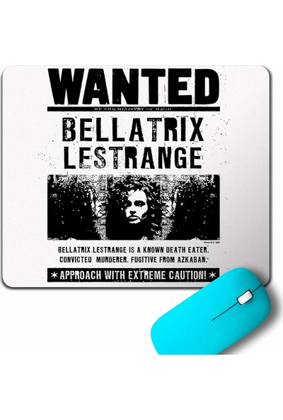 Kendim Seçtim Bellatrix Wanted Harry Potter Poster Mouse Pad