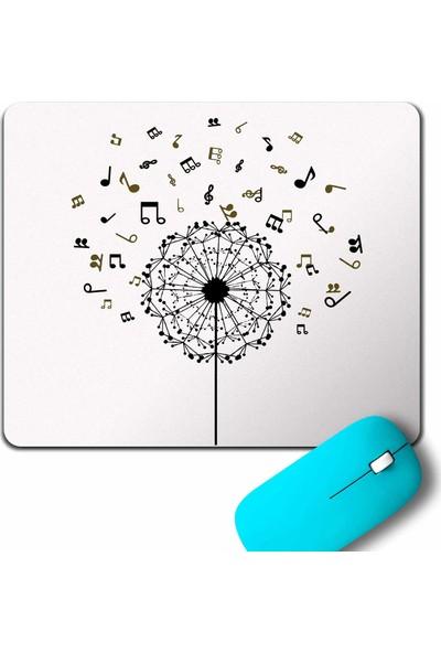 Kendim Seçtim Karahindiba Kara Hindiba Müzik Nota Dandelion Mouse Pad