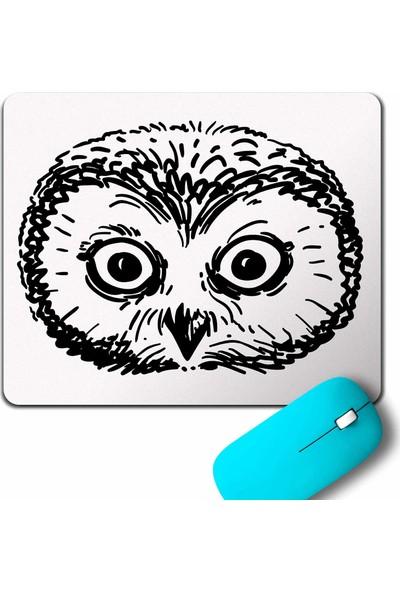 Kendim Seçtim Owl Head Şaşkin Baykuş Kafa Mouse Pad