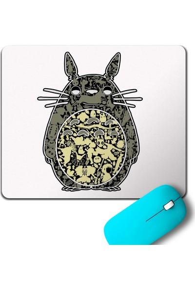 Kendim Seçtim Totoro My Neighbor Owl Baykuş Fishing Mouse Pad