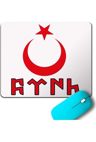 Kendim Seçtim Türk Bayraği Göktürkçe Ay Yildiz Hilal Mouse Pad