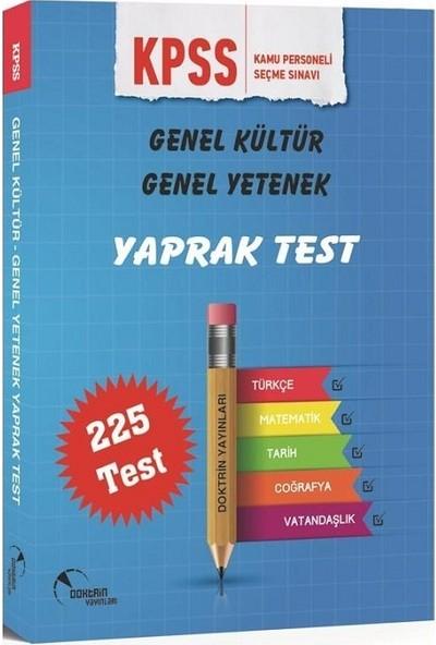 Doktrin Yayınları Genel Kültür / Yetenek Yaprak Test