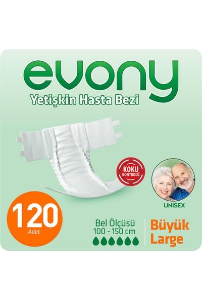 Evony Yetişkin Hasta Bezi Large 120' li