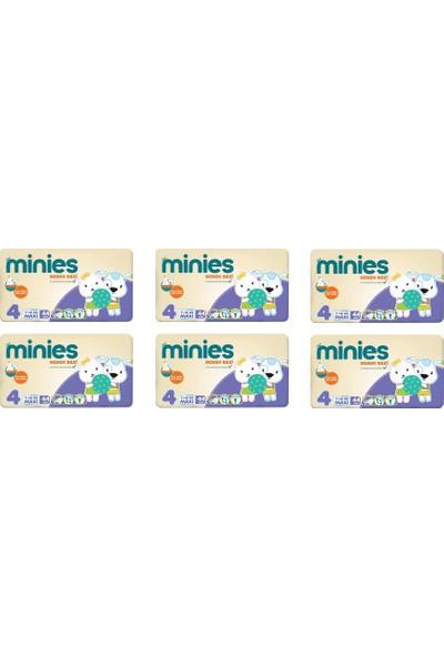 Minies 4 Numara Bebek Bezi 7-18 kg 44 x 6 - 264 Adet 6'lı Paket
