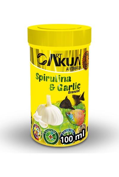 Artakua Spirulina & Garlic Balık Yemi 100 ml (40 g)