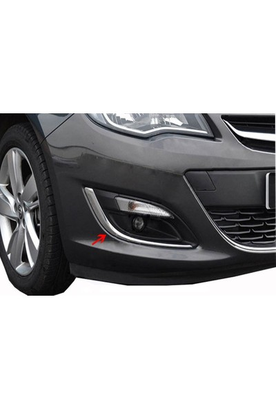 Arabamsekil Opel Astra J Sis Fari Cercevesi 2 Parça Paslanmaz Çelik 2012