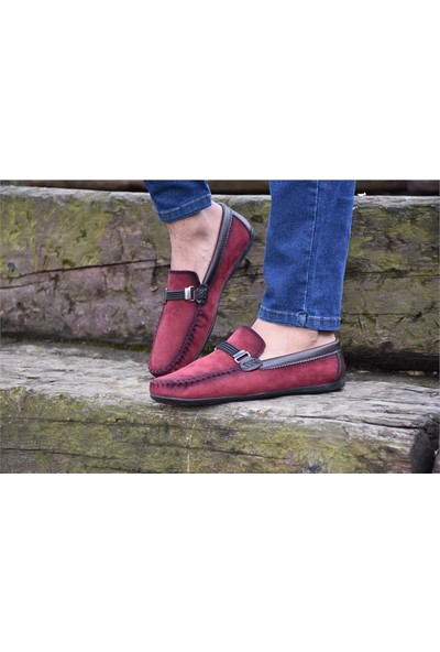 Shoes 203 Bordo Klasik Erkek Ayakkabı