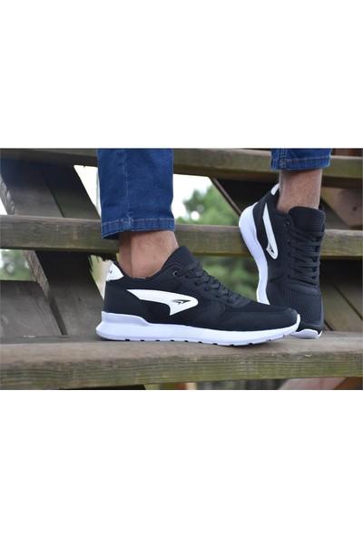 Free Marka Fm-6130 Siyah Beyaz Günlük Rahat Erkek Spor Ayakkabı