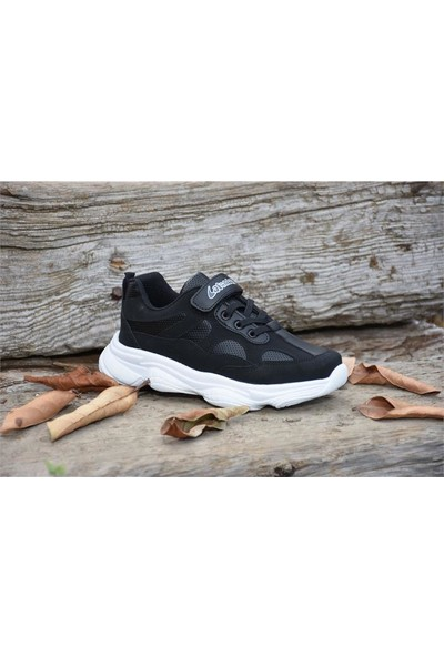 Lafonten 571 Siyah Beyaz Çocuk Günlük Spor Ayakkabı