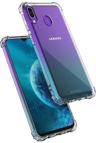 Buff Blogy Samsung Galaxy M20 Crystal Fit Kılıf Crystal Clear
