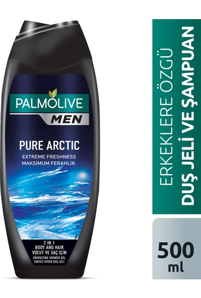 Palmolive Men Pure Arctic 2si 1 Arada Ferahlatıcı Erkek Duş Jeli 500 ml