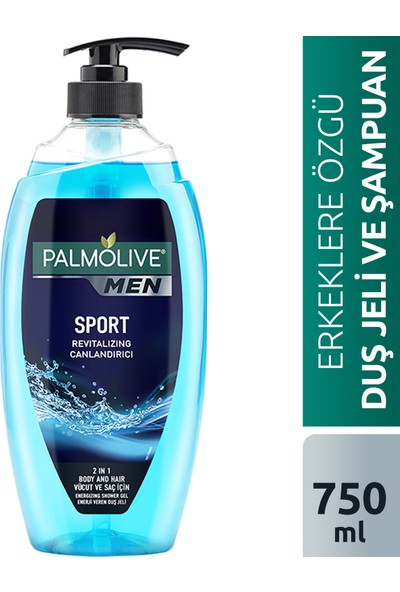 Palmolive Men Sport 2si 1 Arada Canlandırıcı Erkek Duş Jeli 750 ml