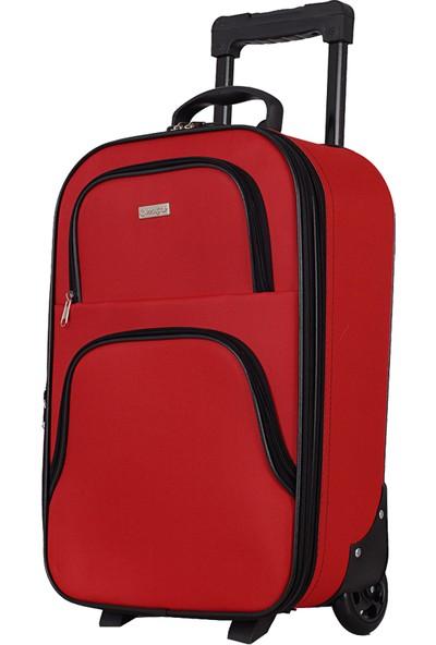 Mgv 002 Kumaş Kabin Boy Valiz Kırmızı