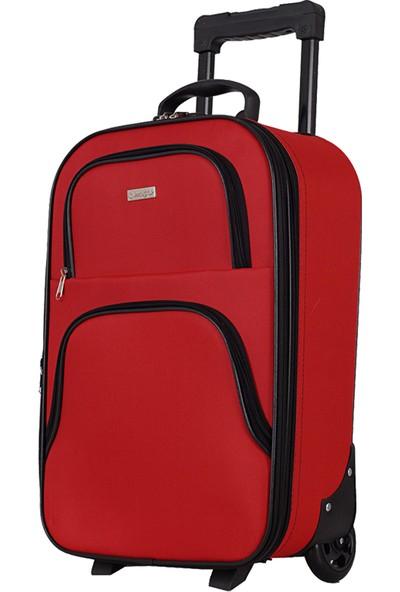 Mgv 002 Kumaş Orta Boy Valiz Kırmızı