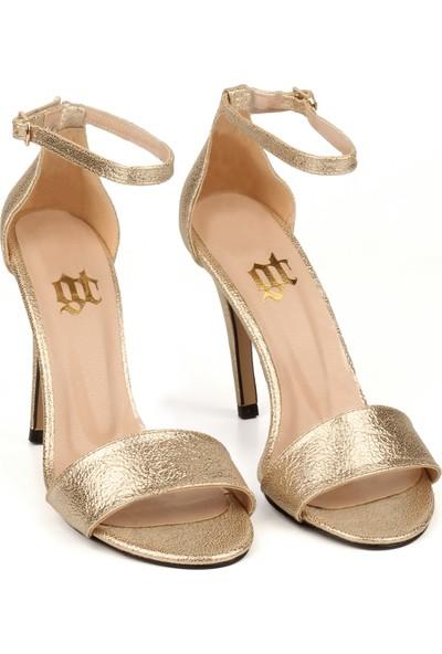 Gökhan Talay Style Dore Deri Topuklu Ayakkabı