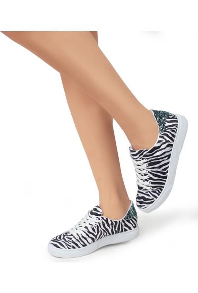 Gökhan Talay Zebra Desenli Günlük Sneaker Ayakkabı