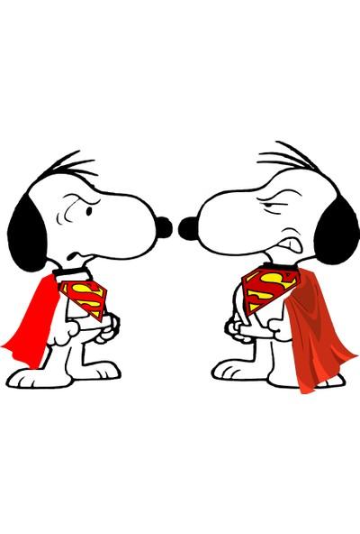 Areksan Reklam Ikili Superman Snoopy Sticker